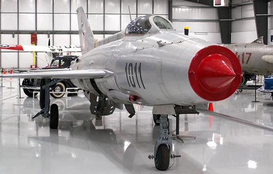 Warhawk Air Museum, Nampa, ID., Mikoyan Gurevitch MiG-21 jet.