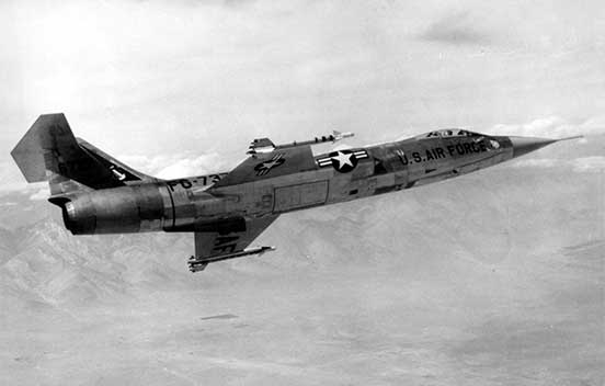 Lockheed F-104 Starfighter in flight