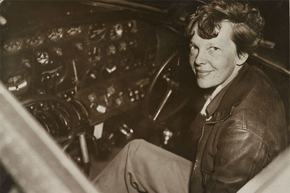 Amelia Earhart as a member of the Ninety-Niners, an organization founded for female pilots. Here she is in 1937.