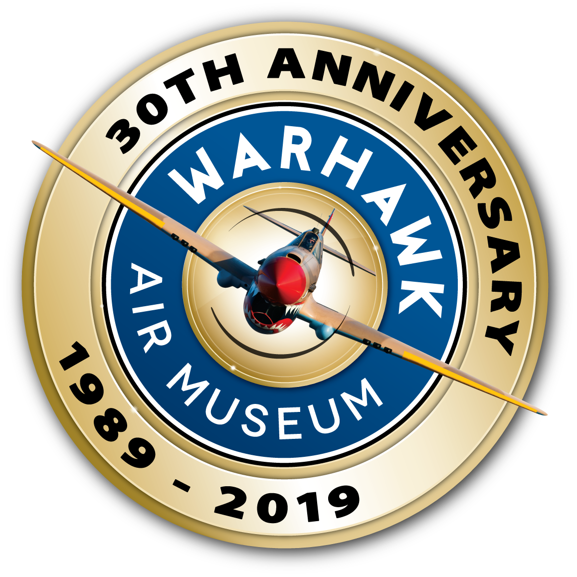 Warhawk Air Museum 30th Anniversary Logo