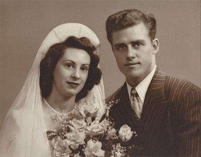 wedding photo of Bull and Helen Durham
