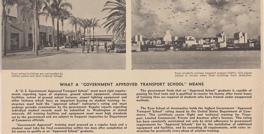 An old, yellowed pamphlet page with the headline: What A Government Approved Transport School means