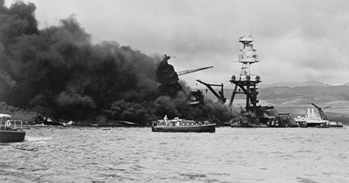 Wreckage of USS Arizona