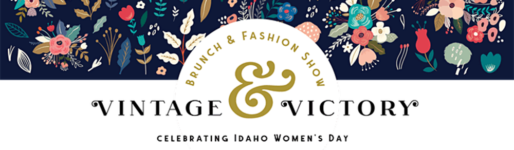 Image banner for the Vintage & Victory Brunch and Fashion Show