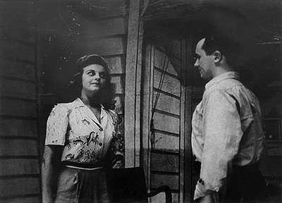 Carmelita Pope as Corliss Archer and Jimmy Dunne as Dexter in