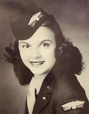 Carmelita Pope in her USO uniform