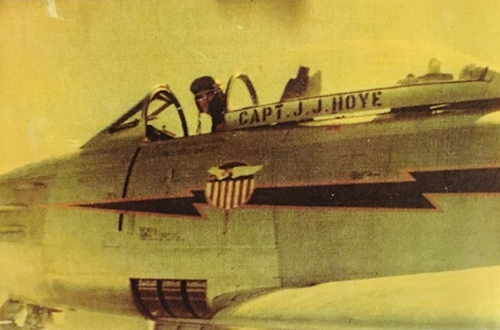John Hoye in his F-86 in Korea