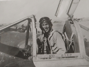 Don Tolmie in his plane
