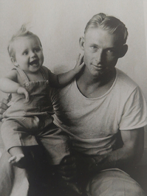 Don Tolmie with daughter