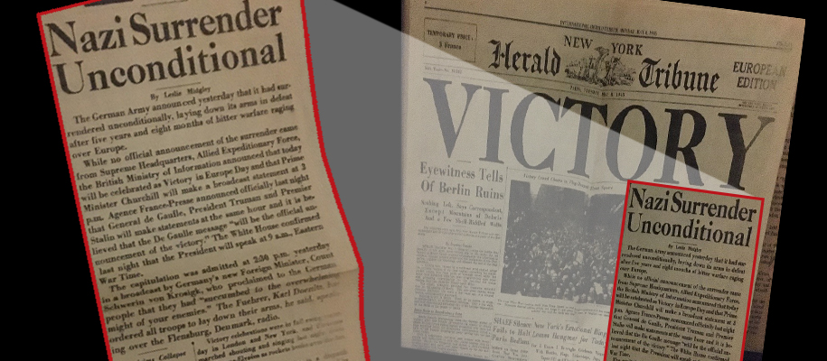 Victory newspaper headline