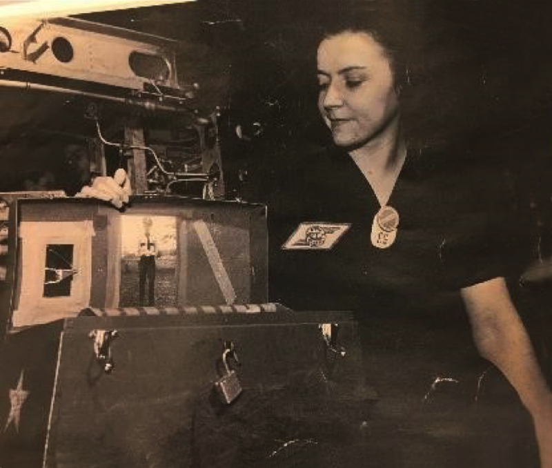 Grace Pankow with her toolbox