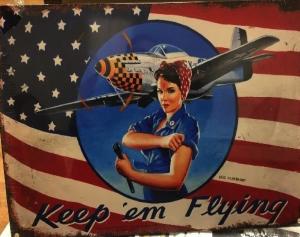Keep 'em flying poster of Rosie the Riveter